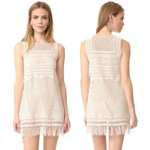 Joie Crochet Boho Festival Tassel Dress